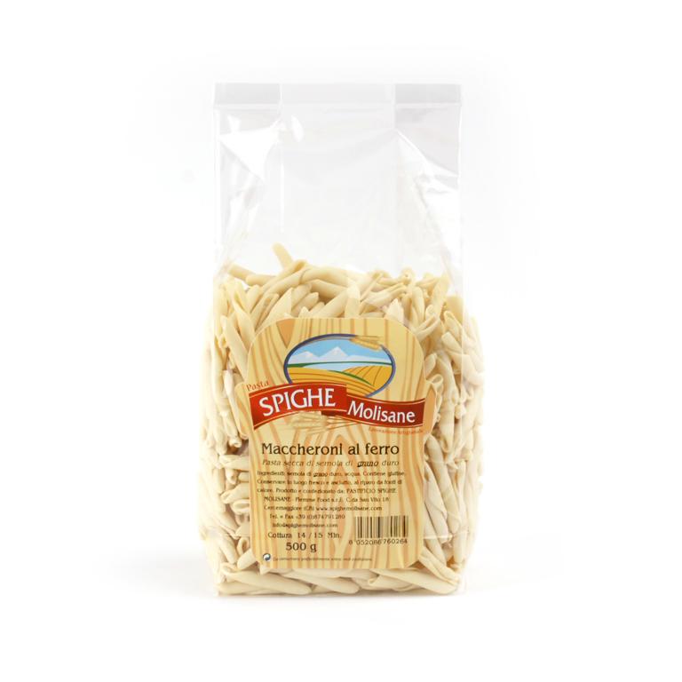 Maccheroni al ferro - con semola di grano duro -Spighe Molisane - 500gr.
