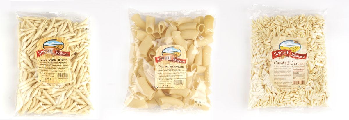pasta fresca da 500gr - maccheroni al ferro - pacchetti - cavatelli