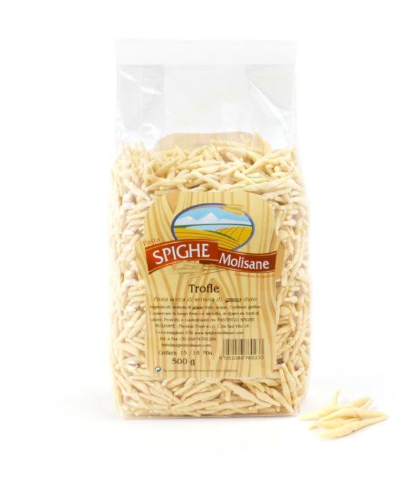 trofie artigianali con grano italiano